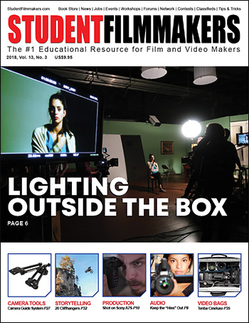 StudentFilmmakers Magazine, 2018 Volume 13, No. 2