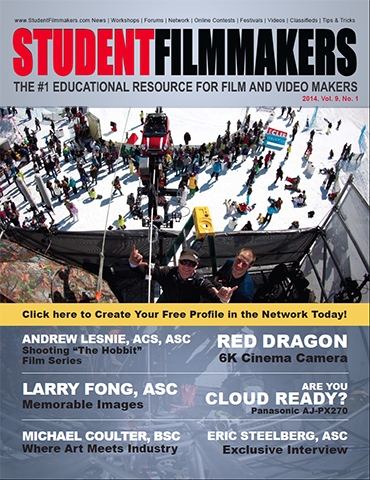 StudentFilmmakers Magazine, Vol. 9, No. 1