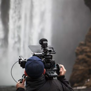 Shooting a waterfall with the SMX-30 on-camera