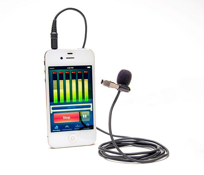 Azden EX-503i Studio Pro Lapel Microphone with iPhone
