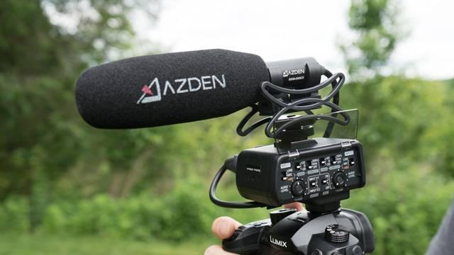 SGM-250CX microphone on GH5 camera