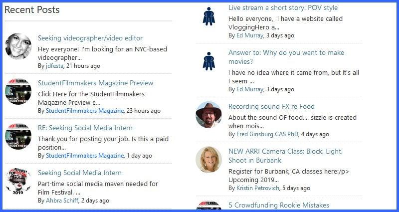 Announcing NEW StudentFilmmakers Magazine Online Community Updates