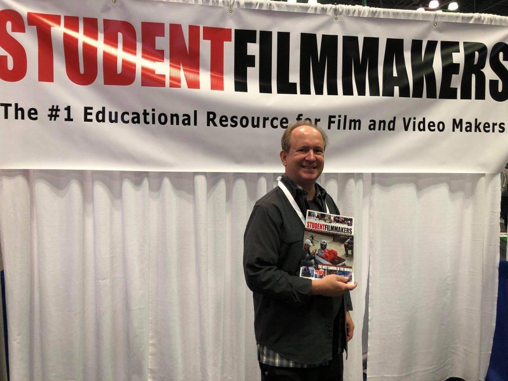 NAB Show NY, Manhattan - Contributing Writer David Kaminski at StudentFilmmakers Magazine Booth N1058