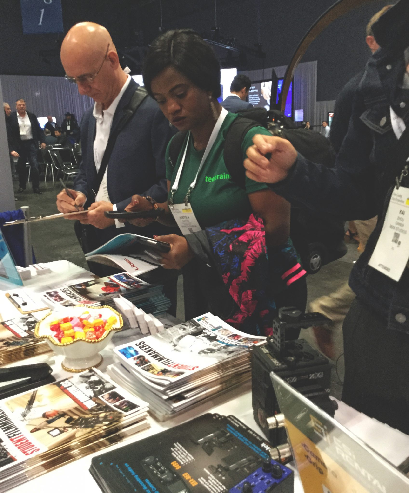 NAB Show New York, Manhattan - Publisher and Editor Kim Edward Welch at StudentFilmmakers Magazine Booth N1058