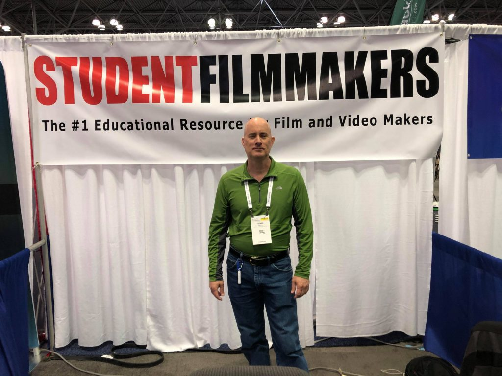 Kevin Welch at the StudentFilmmakers Magazine Booth N1058 - NAB Show NY, Manhattan