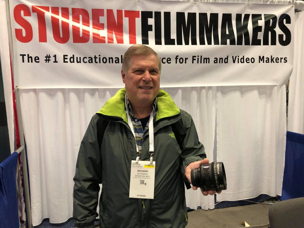 NAB Show New York, Booth N1058 - StudentFilmmakers Magazine talks with Rich Rothbard about the new ROKINON Autofocus 18mms F2.8 Full Frame Compact Lens
