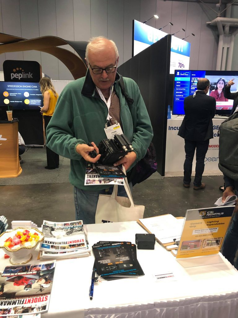 NAB Show New York attendees check out Beachtek DXA-RED and pickup featured editions of StudentFilmmakers Magazine