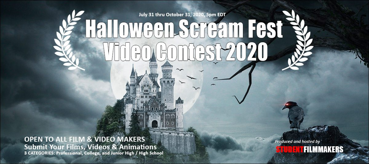 Halloween Scream Fest Video Contest 2020 Call for Entries