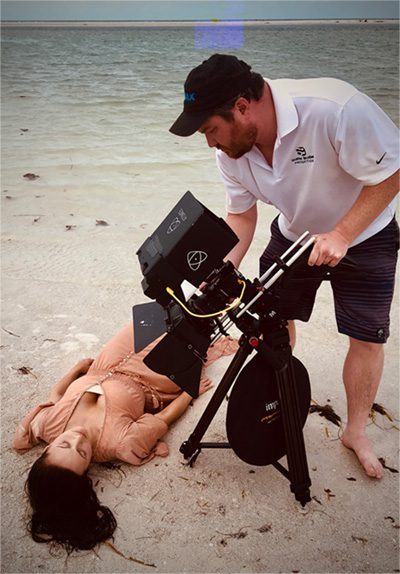 Doug Tschirhart filming scene.