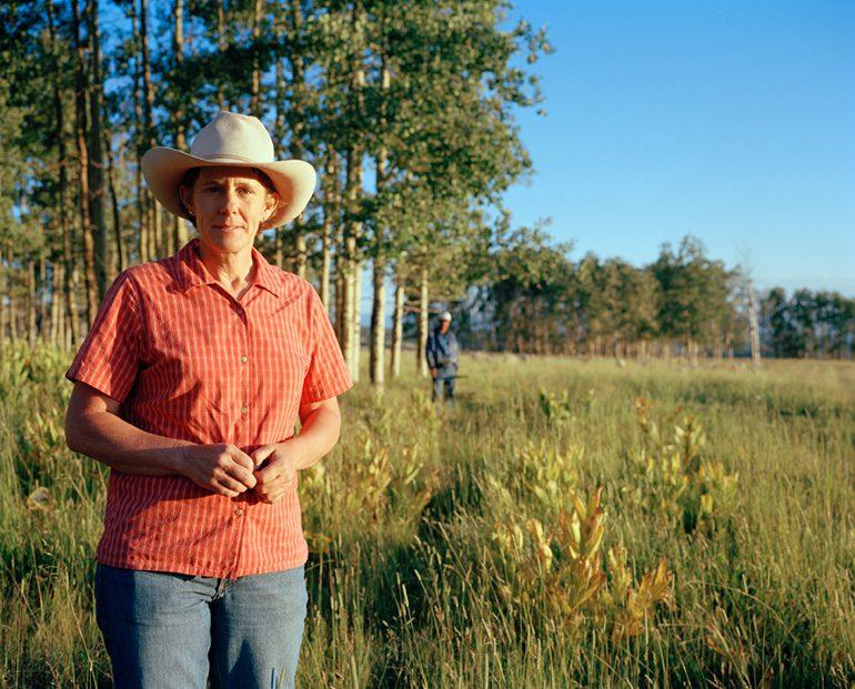 Photo by Michelle Bogre. Molly Manzanares, sheep rancher, Tierra Amarilla, NM.