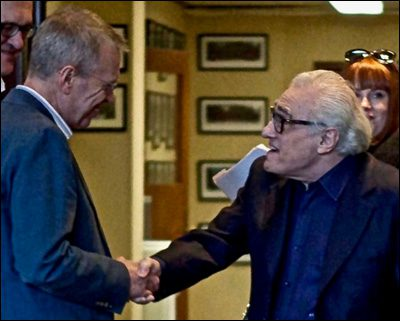 Peter Markham with Martin Scorsese