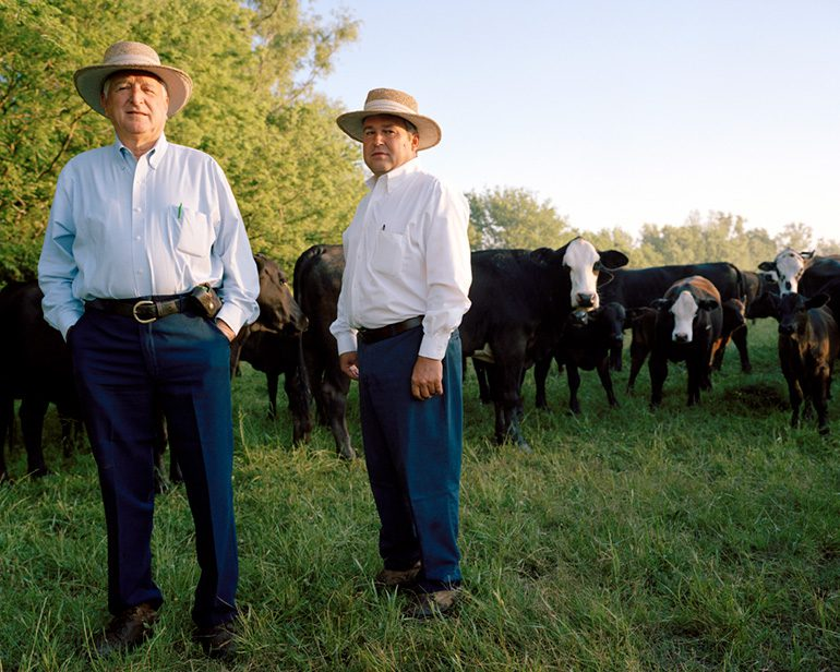 Photo by Michelle Bogre. The Sottiles, sugarcane and cattle farmers, Donaldson, LA.