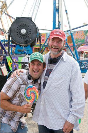 Bob Levy with film director Sean Anders.