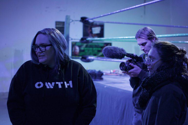From left to right, Samantha Cohen, Jakob Markwardt, Addison Dlott