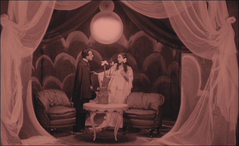 Scene from The Cabinet of Dr. Caligari silent film