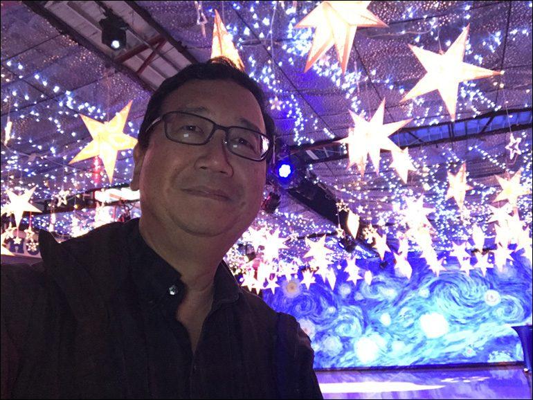 "Michael Goi, ASC on film set of ""Words on Bathroom Walls;"" prom scene."
