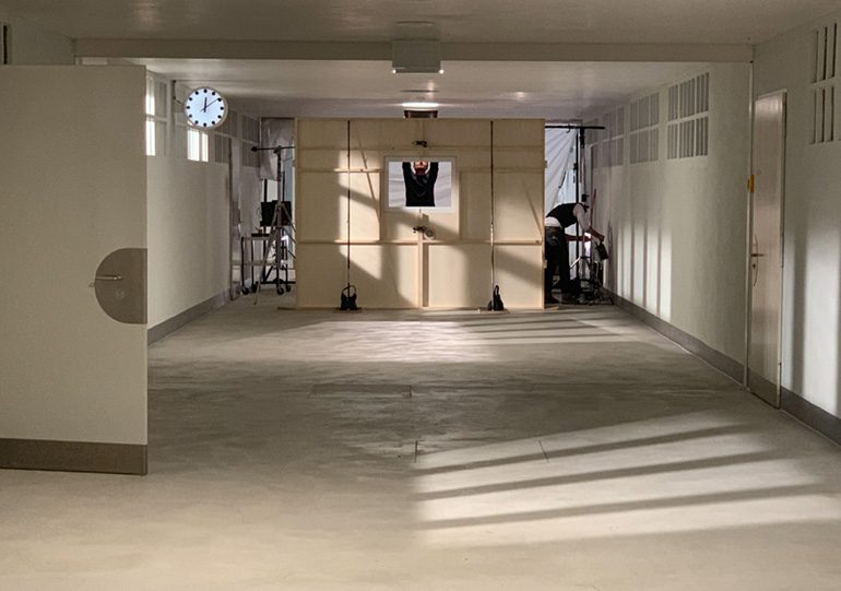 """Building the set for a scene in the experimental film, """"Out of Ordinary"""""""