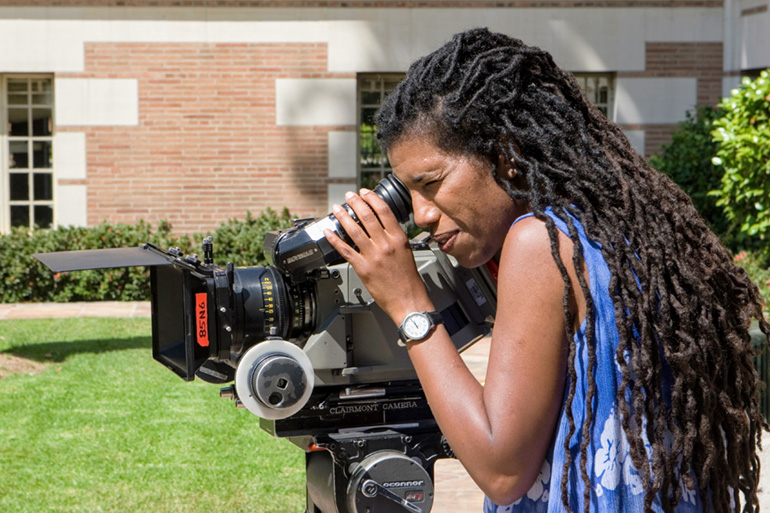 Nandi Bowe behind the camera. Photo by Robert Hale.