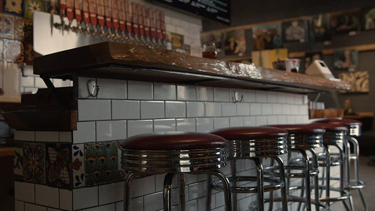 """Bar Stool Scene at Pacific Plate Brewing Co. from """"Art of the Brew"""""""