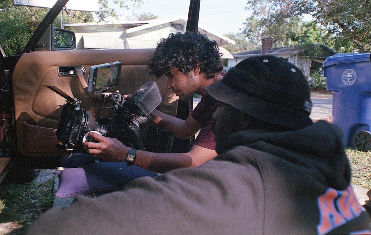 Karim Dakkon, behind the camera, working on set.