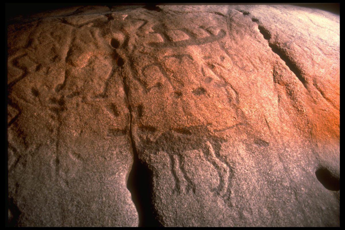 The enigmatic petroglyphs.