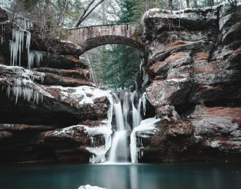 Winter Photo Contest Upper Falls, Old Mans Cave, Ohio